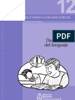 Educando a Los Más Chicos Nº12. Cuadernos Para Familias. Desarrollo Del Lenguaje