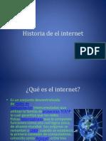 Historia de El Internet