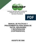 4) Manual Politicas y Procedimientos Conducef