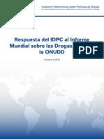 IDPC Response to UNODC World Drug Report 2012 SPANISH