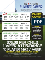 Red X Pitching Summer Camps Schedule