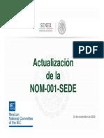 Actualizacion NOM 001 SEDE