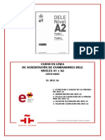 A1 A2 en Línea Contenidos III DELE A2 2014