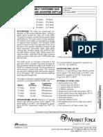 Market Forge FT-GL Kettle