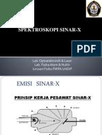 Kuliah 4 Spektroskopi Sinar-X 7-5-2014
