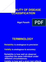 1.9 Reliability of Disease Classification