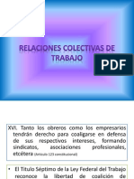 Relaciones Colectivas de Trabajo