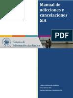 Manual Adiciones y Cancelaciones