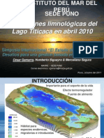 402 Condiciones Limnologicas Lago Titicaca