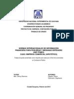 NIF- PYME EJEMPLO Estados Financieros