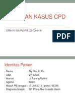Laporan KASUS tentang Cephalo Pelvic Distress (panggul sempit) oleh Erwin santoso, S. ked RST dr. Soepraoen Malang
