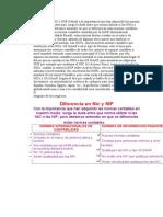 Diferencia en NIC y NIIF
