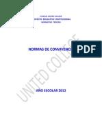 Normativo 3. Normas de Convivencia 2012