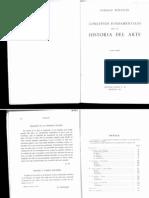 WOLFFLIN - Conceptos fundamentales en la historia del arte; Intro y conclusión