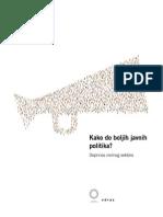 Kako do boljih javnih politika? Doprinos civilnog sektora