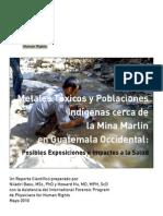 Guatemala Metales Toxicos