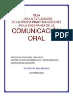 Guia Para La Evaluacion de La Practica Docente de La Comunicacion Oral
