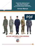 Military Uniforms & Ranks  (1ABG Airman Manual Chapter 4)