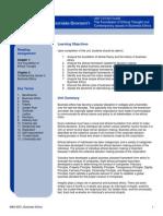 CSU MBA 6301 Unit I-Study Guide