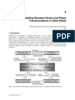 Modelling Residual Stress and Phase Transformation in Steel Welds