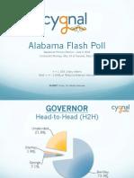 Alabama Flash Poll Presentation - 05/21/14 - Cygnal