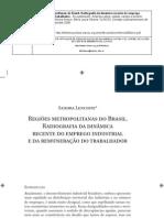 RMs Do Brasil e Emprego Industrial