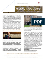 Building History Newsletter 1, April 2014
