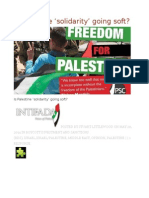 Is Palestine 'Solidarity' Going Soft