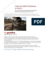 Video Footage Indicates Killed Palestinian Youths Posed No Threat