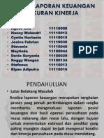 Analisa Laporan Keuangan & Ukuran Kinerja Spm Slide Presentation