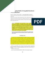 D- Neuroimaging Studies Ofamygdala_function in Anxiety Disorder