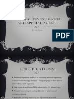 criminal investigator and special agent