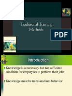 3.Traditional Training Methods