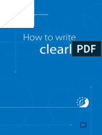 EC - How to Write Clearly
