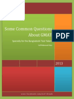 Some Common Questions About GMAT