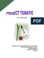 Proiect Tematic Zana Primaverii