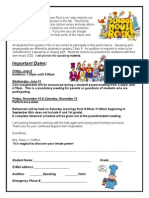 School Play Audition Form