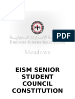 EISM Senior Student Council Constitution - Draft 1