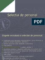 Selectia de Personal