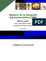 BalancedelaCampanaAgroexportadora 2007 - ADEX - Final CL