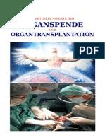 Spirituelle Aspekte Der Organspende Und Organtransplantation