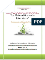 La Matemática en La Literatura