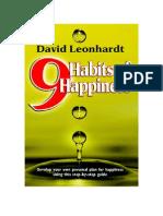 Nine Habits of Happiness, by David Leonhardt (Excerpt)