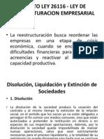 Decreto Ley 26116 - Ley de Reestructuracion Empresarial 1