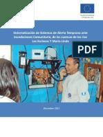 ACF Sistematización Herramienta Sistemas Alerta Temprana Comunitario Cuencas ríos Los Esclavos y María Linda. Guatemala, Diciembre 2013