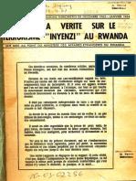 «Toute la vérité sur le terrorisme Inyenzi au Rwanda»