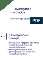 La Investigaci n Psicol Gica Educativa