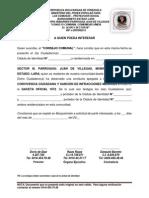 Carta Aval de Buena Conducta