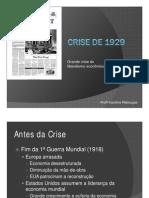 Crise de 1929 História Profª Karol