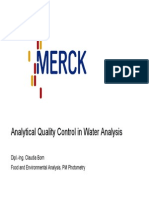 Analytical Quality Control 2007